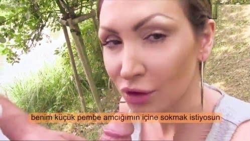 Rus Kadını Parkta Parayla Kandırıp Sikti